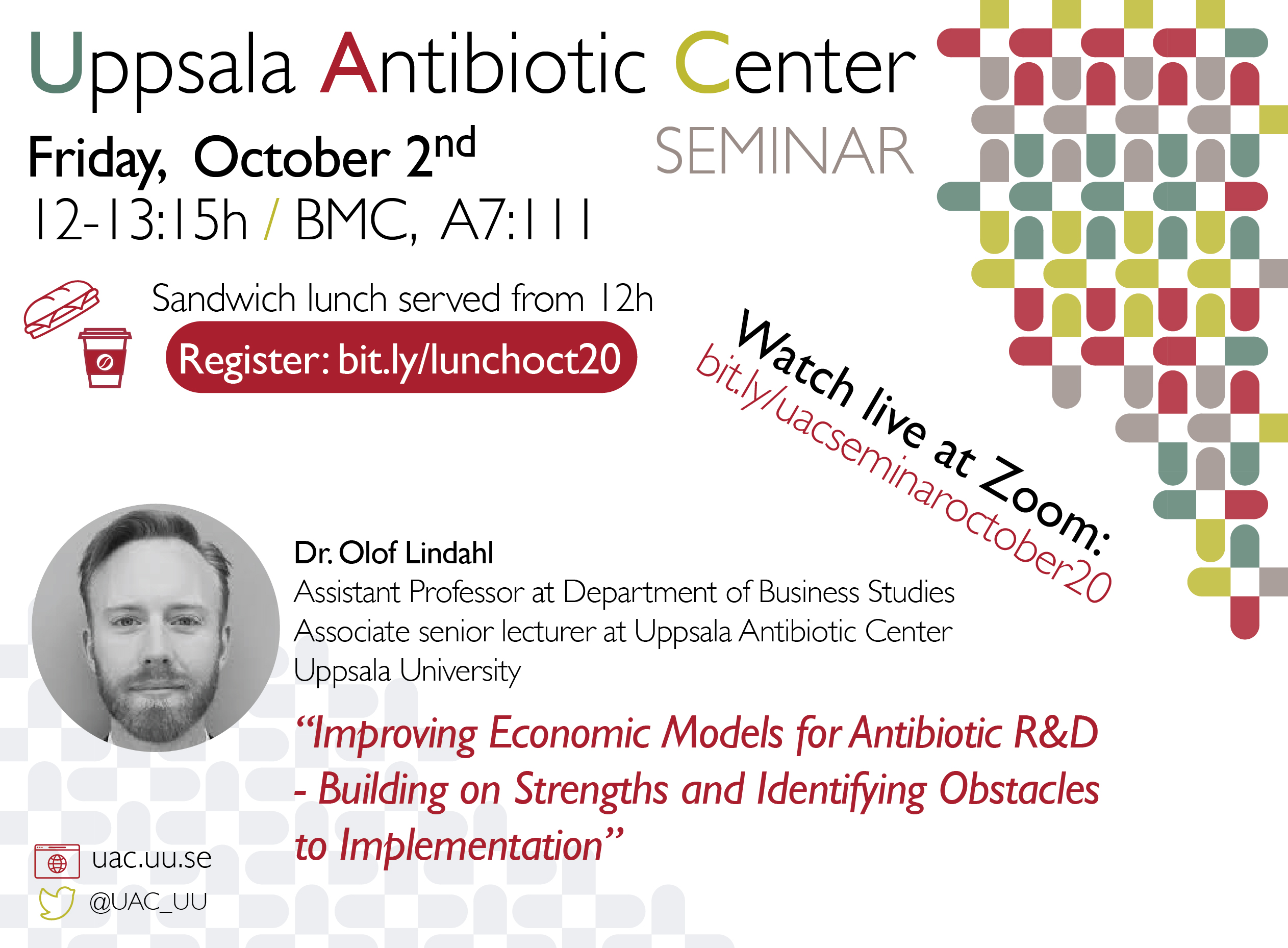 UAC Seminar: Improving Economic Models for Antibiotic R&D - Building on Strengths and Identifying Obstacles to Implementation